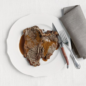 Rib-eye Steak with Brandy Sauce